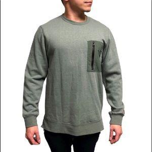 Modern Amusement Men's Green Pullover Sweater